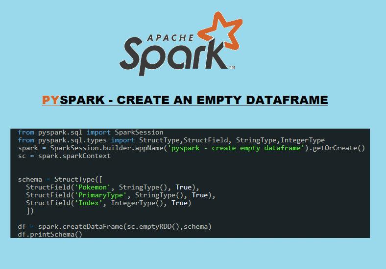 pyspark create an empty dataframe