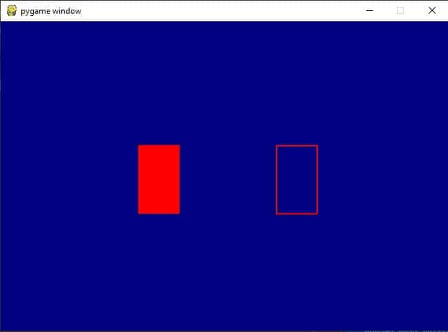 pygame draw rectangle