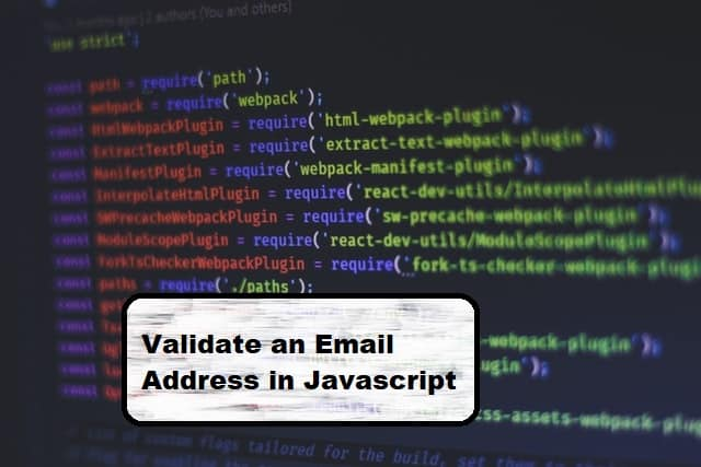 validate email with javascript